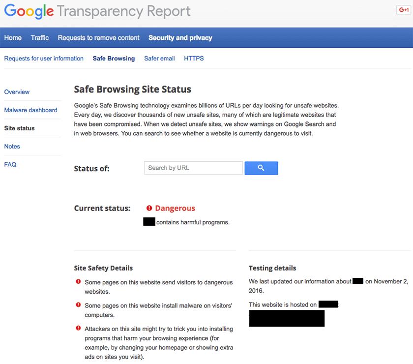 Kako da uklonite Google Blacklist upozorenje?